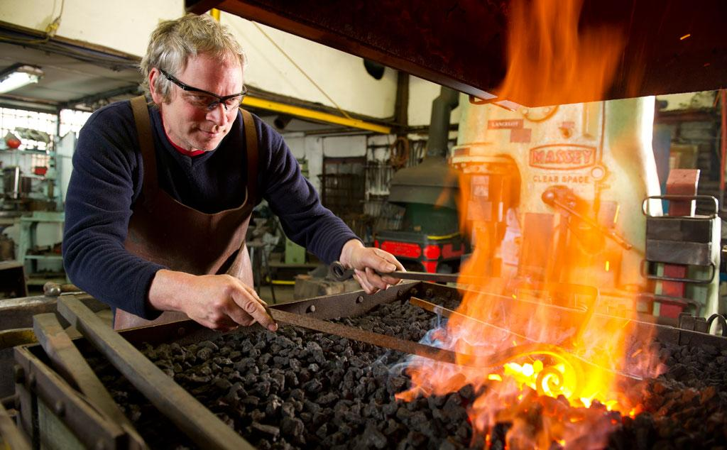 See Nigel and his team at work in the forge
