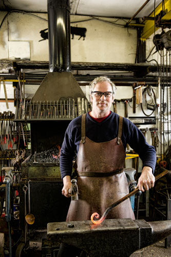 Artist Blacksmith Nigel Barnett at Fransham Forge